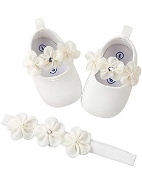 Zolimx 💕 Niña Diadema + Zapatos Casual Zapatillas Anti-Slip Suela Suave Recién Nacido Zapatos