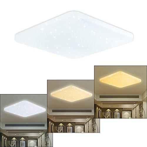 HG® LED Deckenleuchte Deckenbeleuchtung Wandlampe Eckig Deckenlampe  Esszimmer ...