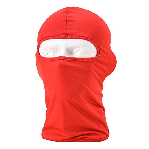 Passamontagna Unisex-Attrezzature Sportive Antivento Antipolvere Sottocasco Balaclava Regolabile Maschera Facciale per Equitazione,Rosso