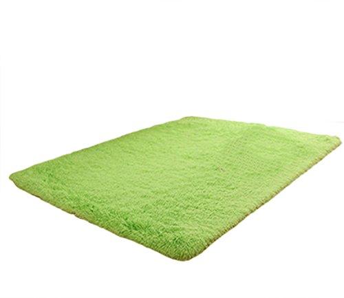 Liveinu tappeto shaggy rettangolo tappeti soggiorno pelo lungo antiscivolo lavabili moderni moquette 120x160cm verde
