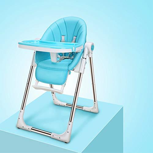 Zhanghaidong Faltbare Baby Kinder Hochstuhl Fütterung Liege Verstellbare Sitz Stuhl Blau Moderne Stuhl Baby Hochstühle Fütterung Verstellbare Sitzhöhe Infant Fütterung Hochstuhl -