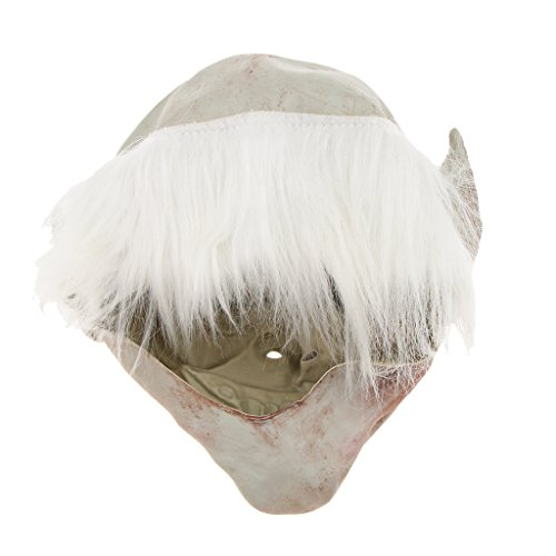 Clown Hexe und Zombie Latex Maske Halloween Cosplay und Karneval Kostüm Accessoires, Eine Größe für alle Menschen, Bequem und Atmungsaktiv - Weißbrauen Old Demon ()