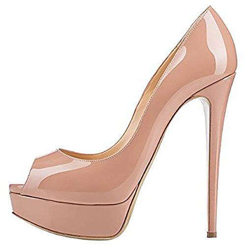 EKS Women's Babbittlm Thin High Heel Peep Toe Gradient Color Pumps Dress Heels