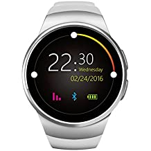 Elegant Pulsera Inteligente Para Android Sensor de ritmo cardíaco ,Pulsometro Integrado (Plata)