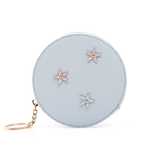 CLOTHES- Sacchetti di borsa della borsa della moneta del raccoglitore delle ragazze delle ragazze delle signore Sacchetto della moneta della Corea del Giappone e della Corea del Sud ( Colore : Rosa ) Blu