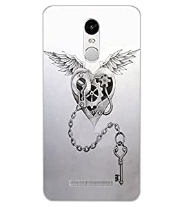 ColourCraft Heart and Key Design Back Case Cover for XIAOMI REDMI NOTE 3 PRO