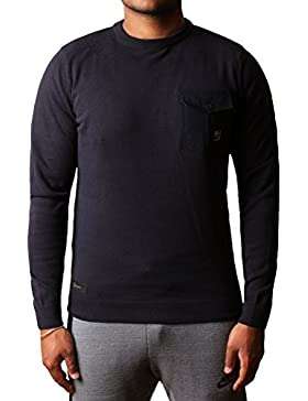 Prendas de punto suéter de cuello casual para hombre Crew Jumper Disidente Stonebanks algodón