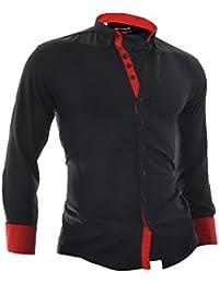 D&R Fashion Elegant Shirt Quaint Texture Contrastive Finishings 100% Cotton