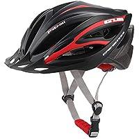 MIRACLEM Road Mountain Bike Helmet/Ultra Light/Transpirable / Desodorante Integrated Molding Dual-Use Hombres Y Mujeres Equipo De Equitación,Blackred