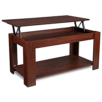 Homfa Lift Up Coffee Table Living room with Shelf and Storage - inexpensive UK light store.