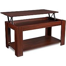 HOMFA Couchtisch Wohnzimmertisch Beistelltisch Tisch Mit Hhenverstellbarer Platte 100x50x48 61cm
