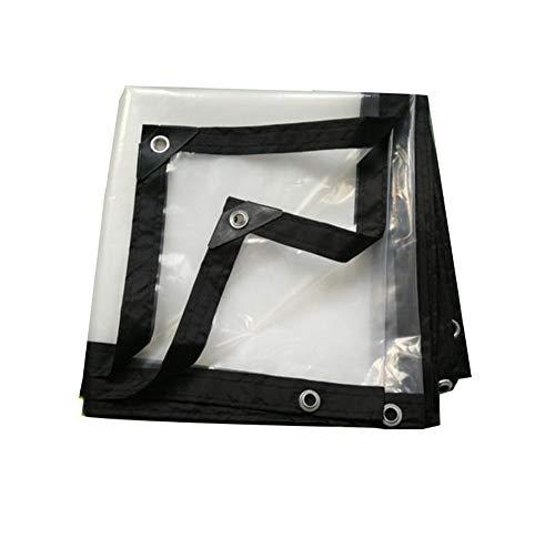 XRFHZT Stoff staubdicht Stoff Winddicht transparente Plastikfolie Plane Plastikstoff transparente LKW-Plane,5mX6m