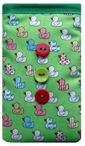 Cute Green Ducks Print Apple iPhone 6 sock / Case / Cover / Pouch