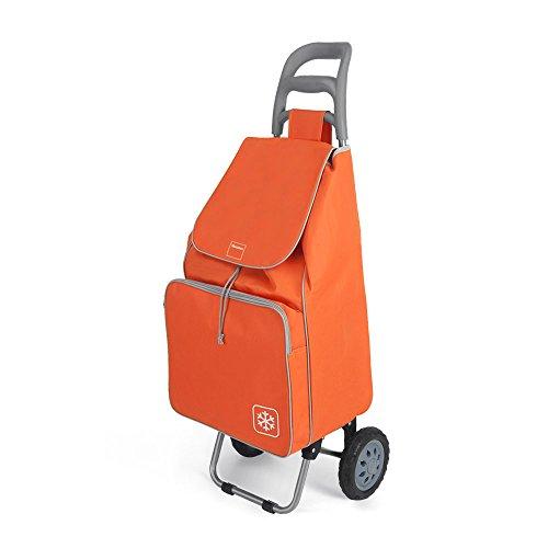 Metaltex Krokus Einkaufswagen mit 2Rädern, Metall, 120x 60x 6cm 120x60x6 cm orange