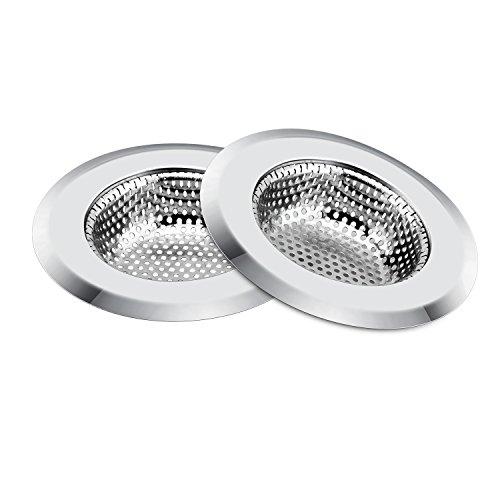 youpin Abflusssieb für Küche Dusche Bad oder Küche Waschbecken Edelstahl Spüle Ablauf Filter (Zwei - Edelstahl Protector Spüle