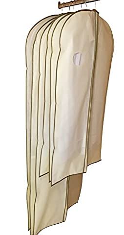 Garment Covers Bags by DRYZEM Set of 6 Breathable Covers for Suits, Shirts, Gowns and Dresses 2 Year