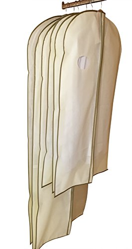 DRYZEM Garment Covers Bags Set of 6 Breathable Covers for Suits, Shirts, Gowns and Dresses 2 Year Warranty