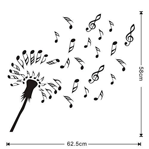 Weaeo Kreatives Design Löwenzahn Blumen Blossom Wandtattoo Music Notes Diy Wandaufkleber Kinderzimmer Vinyl Aufkleber Home Decor Wall Art Ming Blossom