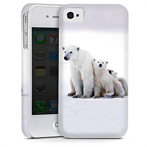 Apple iPhone 5 Housse Outdoor Étui militaire Coque Ours polaire Ours Ours Cas Premium mat