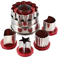 Cake Boss Stainless Steel Baking Cutters for Holiday Linzer Set, 6-Piece