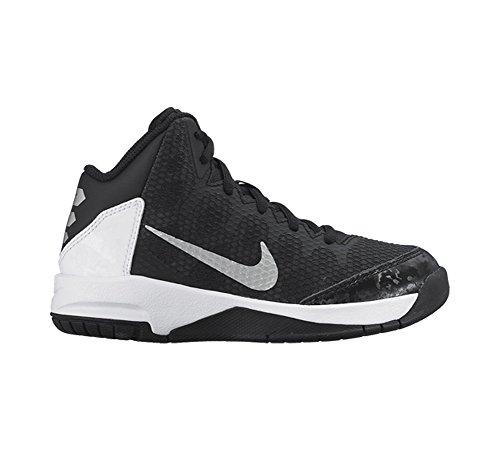 New Nike Boy'S sans aucun doute chaussure de basket Black/Flt Silver/White/Mtlc Silver