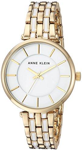 Anne Klein Women's Quartz Metal and Alloy Dress Watch, Color Gold-Toned (Model: AK/3010WTGB)