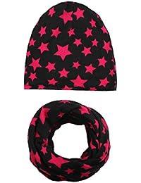 Swallowuk 1 Set Babybekleidung Schals mit Baby Mütze Schal Jungen Mädchen Halstuch Kind Hüte (G)