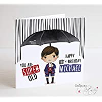 The Umbrella Academy Personalised Birthday Card - Number 5 -The Boy