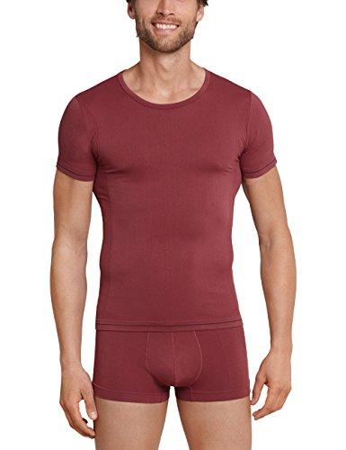 Schiesser Herren Unterhemd Seamless Active Shirt 1/2, Rot (Bordeaux 502), Medium (Herstellergröße: 005)