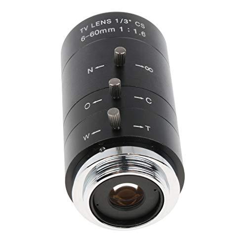 Baoblaze 1/3'' 6-60mm Manuelle Iris Zoom CS Mount TV Objektiv Schwarz Cs-mount
