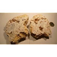 Bergkristall Druse PAAR, 355,65g, 10x10cm, voller Kristalle, nicht nur zum Aufladen anderer Heilsteine. preisvergleich bei billige-tabletten.eu