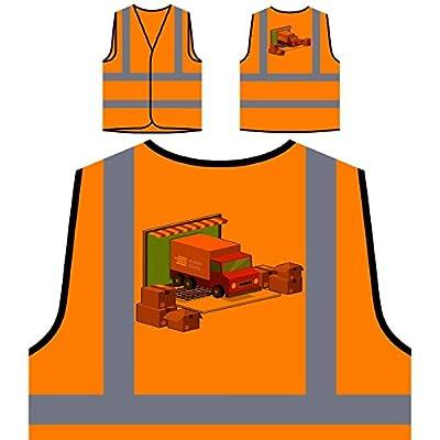 Lieferdienst Lkw Personalisierte High Visibility Orange Sicherheitsjacke Weste p580vo