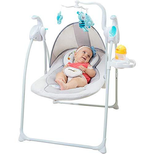 AYUE®Baby Rocking Chair Silla Confort Criba Vibradora Bebé Soñoliento Eléctrico Silla Cradle Criba Vibradora Sillón