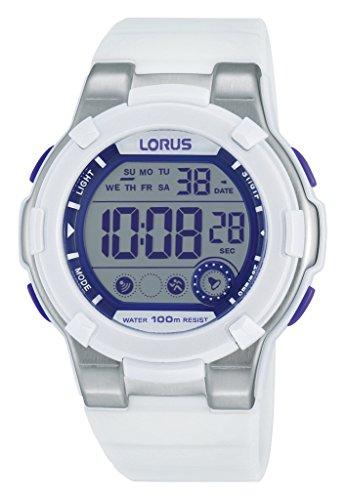 Lorus Watches de mujer reloj de pulsera deportivo Digital Cuarzo Caucho r2359kx9