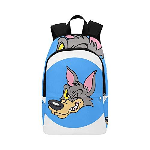 Cartoon Cute Wolf Casual Daypack Reisetasche College School Rucksack für Herren und Frauen