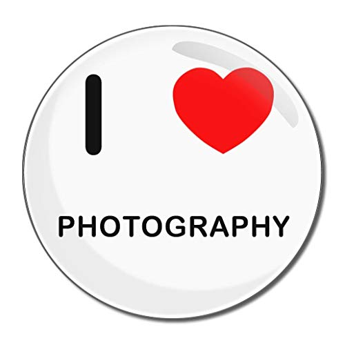 I Love Photography - Miroir compact rond de 77 mm