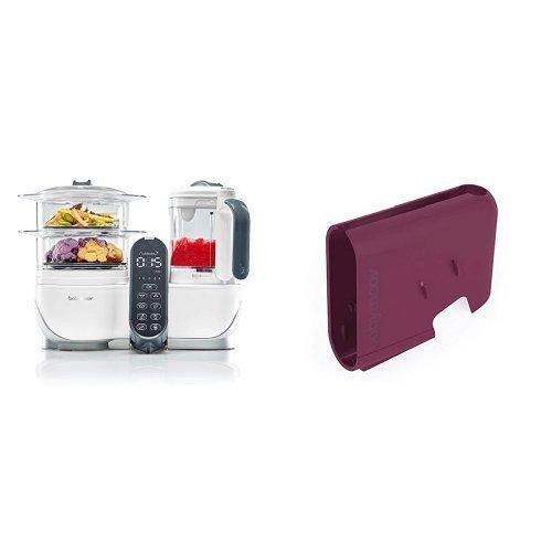 Babymoov Nutribaby (+) loft white - Multifunktions Küchenmachine + Babymoov Displaygehäuse Nutribaby (+) Rot