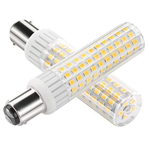 ZOZO Ultima BA15D lampadine LED 8.5 W macchina da cucire a baionetta lampadina ad alta luminosità equivalente a 100W lampada alogena 90V-265V Bianco caldo 3000K(Confezione da 1)