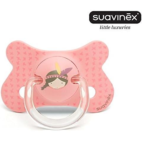 SUAVINEX Chupete 4-18 Meses Top Trends Fusión Anatómico Silicona - Rosa
