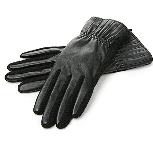 gants/mode/Plus gant de velours court contractions plein doigt D