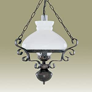 SEARCHLIGHT 576RU - Rustic Brown Oil lantern style Pendant Light 1 x 100W max rating