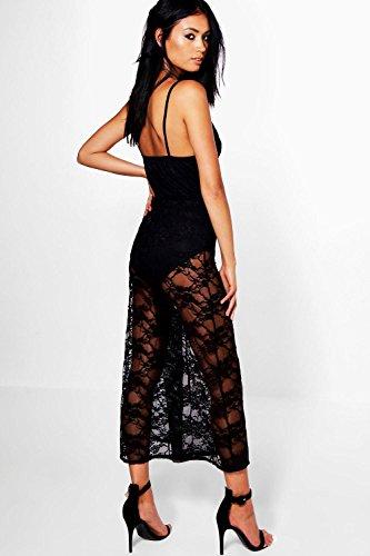 Noir Femme Lois All Over Lace Culotte Jumpsuit Noir