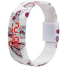 Ularma Moda Ultra - delgada los hombres chica deportes Digital LED reloj de pulsera de silicona pulsera de
