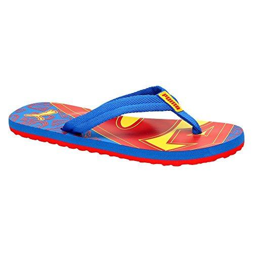 Puma Epic Flip Superman Jr Jungen Zehentrenner Freizeit blau , Schuhgröße:39