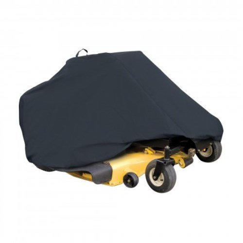 """41lIkzaNPnL - Classic Accessories 73997 Zero Turn Riding Lawn Mower Cover, Black, Up to 50"""" Decks Reviews"""