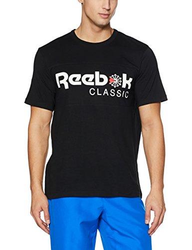 Reebok F Franchise Iconic Tee Shirt, Herren XL Schwarz (Reebok-herren-casual)