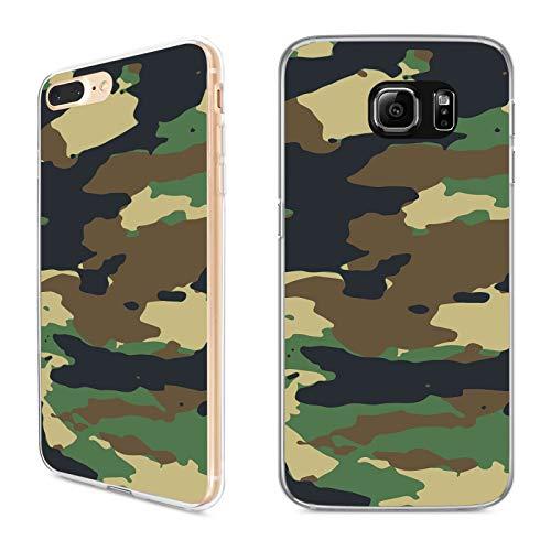 Premium Handyhülle Camouflage aus Silikon |Pastell Pink Army Tarnfarbe Camo Tarnung Grau Grün Braun, Kompatibel mit Handy:Samsung Galaxy A5 (2015), Hüllendesign:Design 3 | Silikon Klar