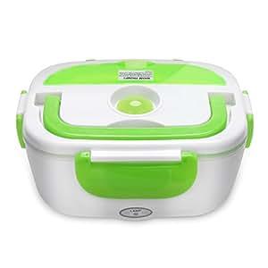 YISSVIC Scaldavivande Portavivande Elettrico Lunch box Portatile Plastica 1,05L per Campeggio Casa Ufficio ecc Verde