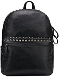 Punk Style Pu Leather Backpack Studded Travel Backpack School Bag For College By Vochic