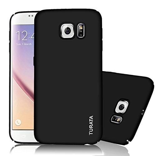 Samsung Galaxy S6 Case – TURATA Ultra dünne Hartplastik PC schwarz Schutzhülle Premium Beschichtete Rutschfeste Oberfläche für Samsung Galaxy S6